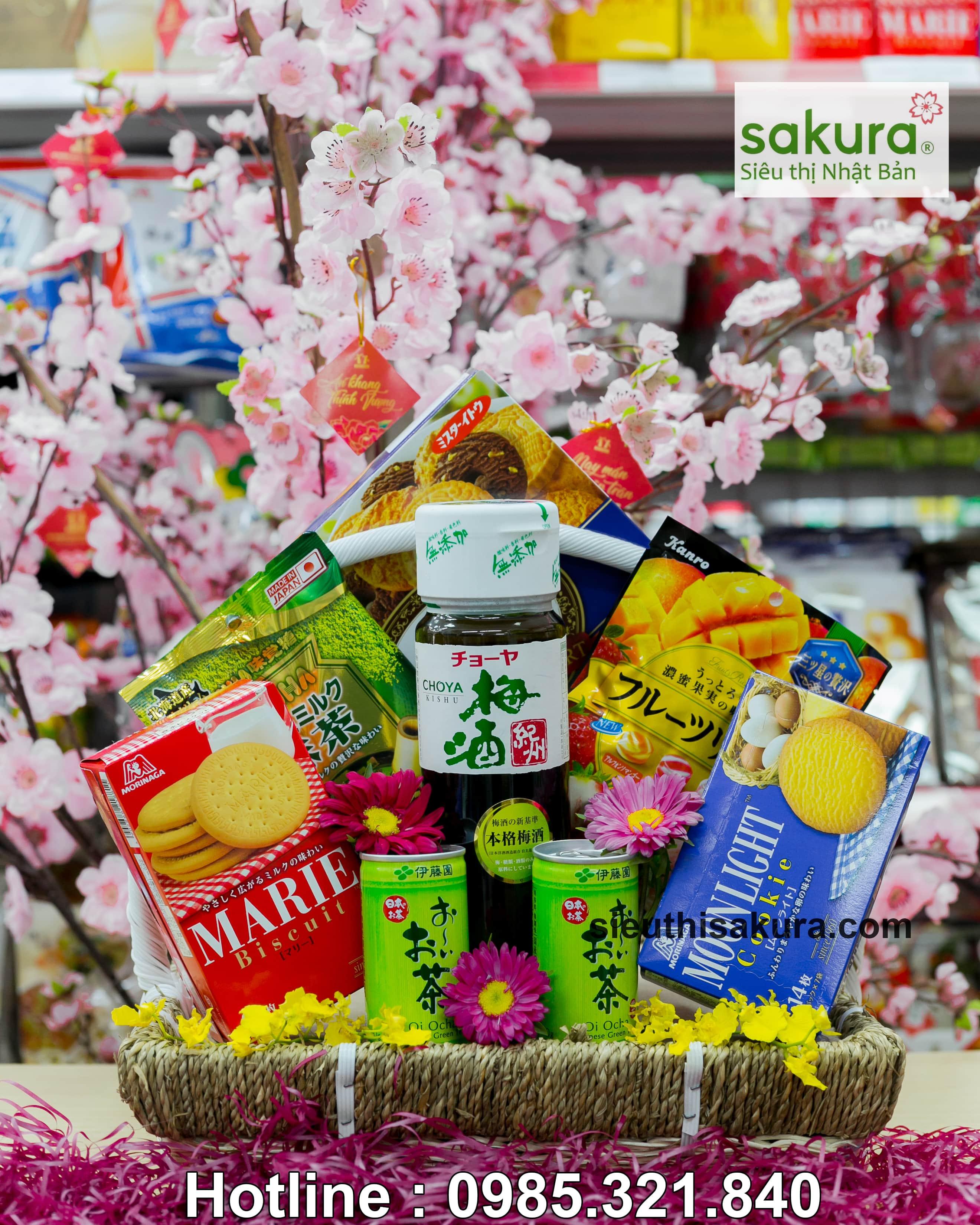 Set giỏ quà tết Sakura: Xuân Phú Quý