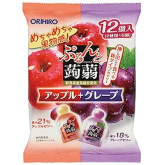 Thạch túi vị táo và nho 20g x 12 cái - Hàng Nhật nội địa
