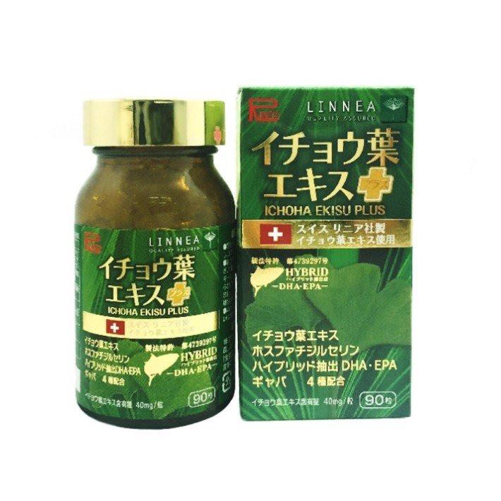 Viên uống bổ não, ngừa đột quỵ Ichoha Ekisu Plus Ribeto Nhật Bản - Hàng Nhật nội địa