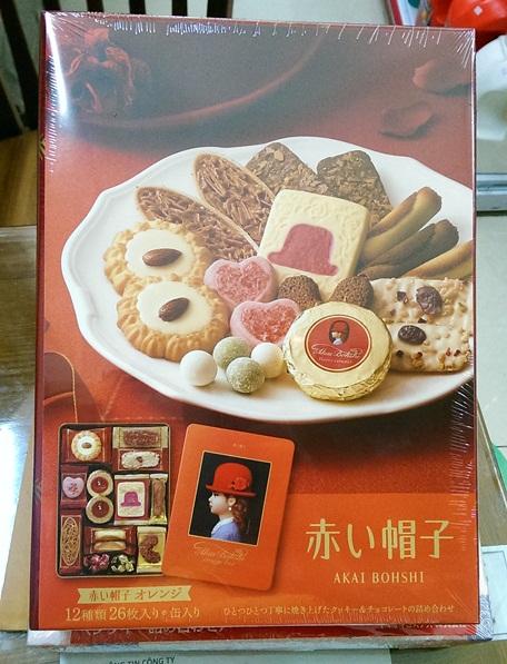 Bánh Akai Bohshi Orange Box 26 miếng - Hàng Nhật nội địa