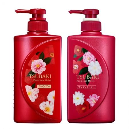 Bộ gội xả phục hồi tóc Tsubaki Premium Moist 490mlx2 phiên bản giới hạn - Hàng Nhật nội địa