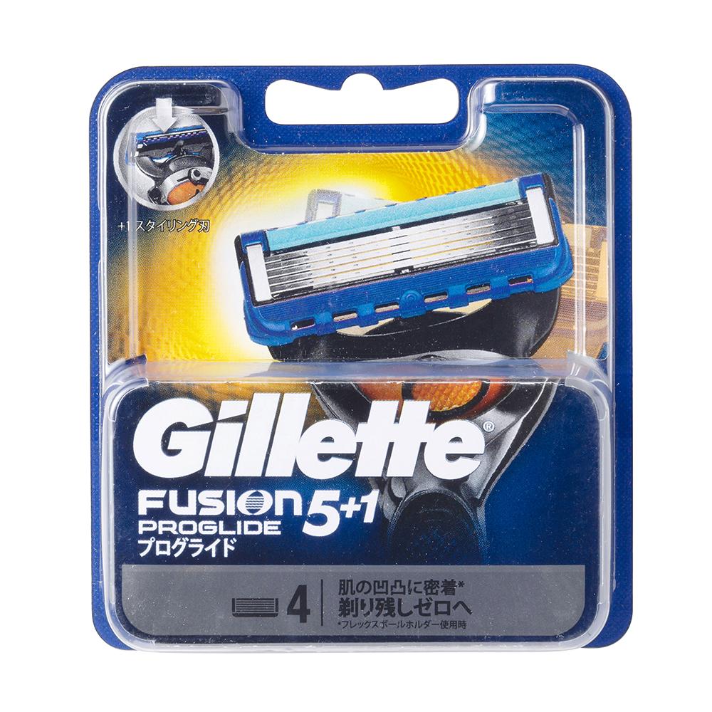 Set 4 lưỡi dao cạo râu Gillette Fusion Nhật Bản 5 lưỡi kép ( xanh)