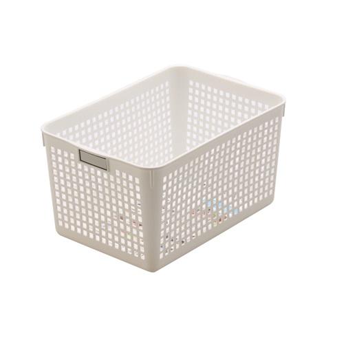Rổ nhựa đa năng màu trắng Inomata- Hàng Nhật nội địa