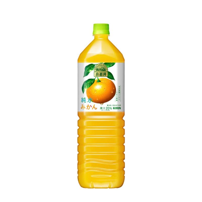 Nước ép cam Kirin Koiwai Pure Water Orange 1.5 lít - Hàng Nhật nội địa