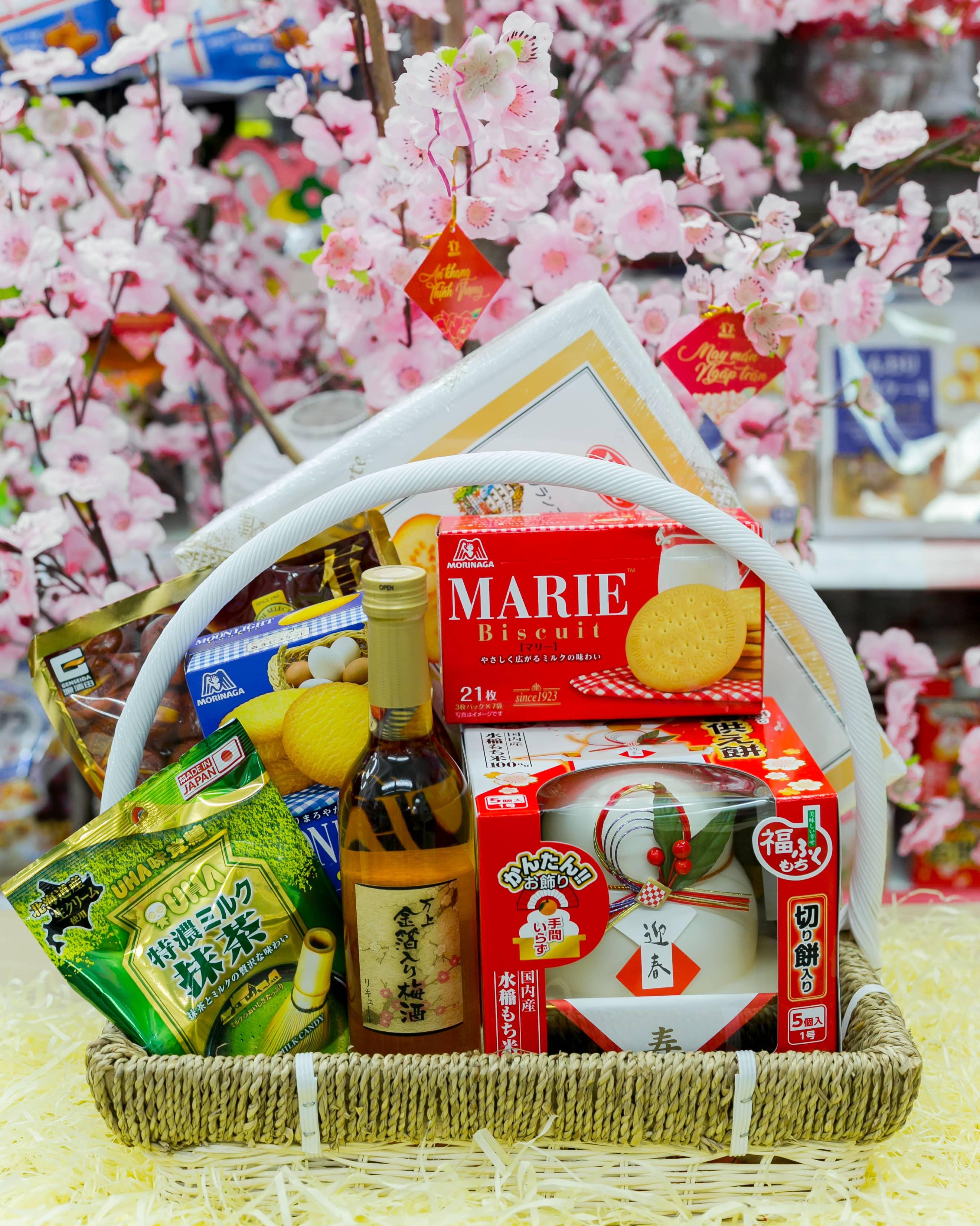 Set giỏ quà tết Sakura: Xuân An Khang