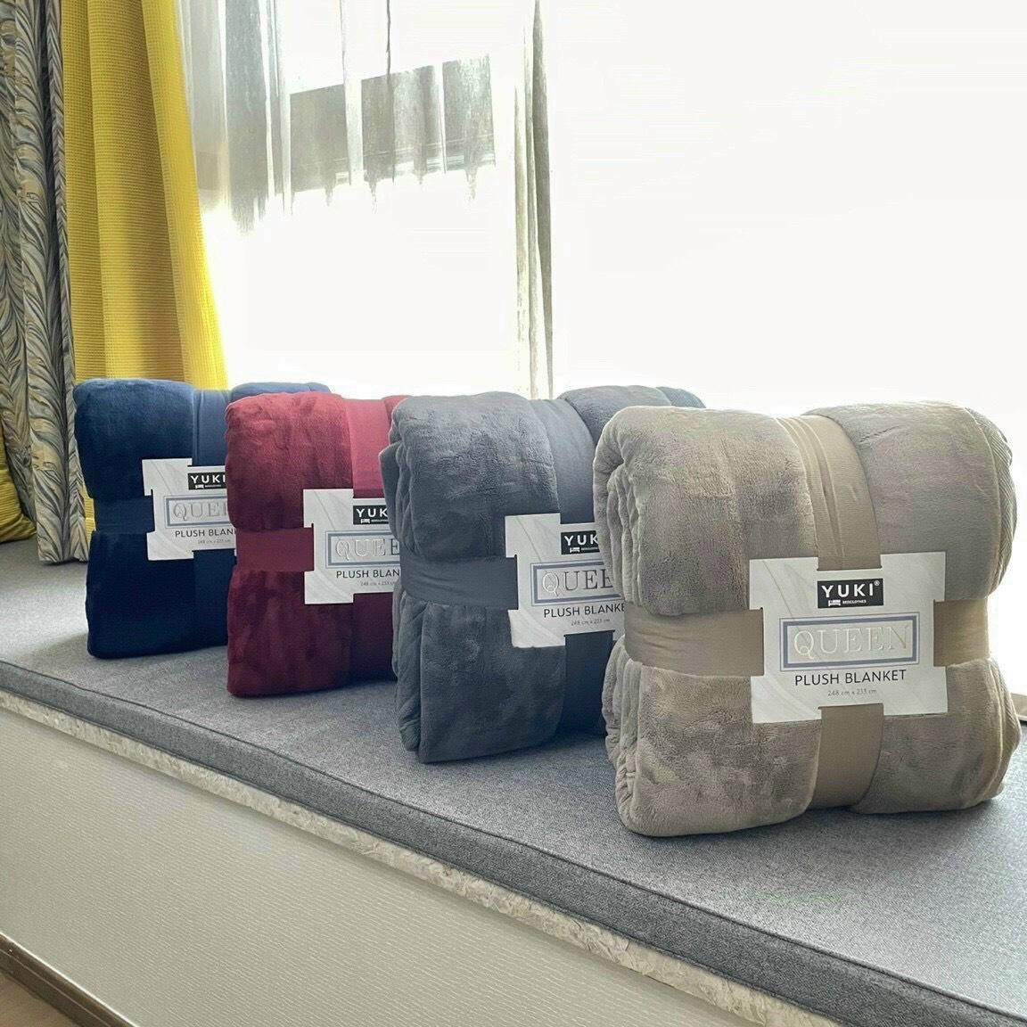 Chăn lông cừu cao cấp Yuki Queen 3,3kg Nhật Bản - Hàng Nhật nội địa