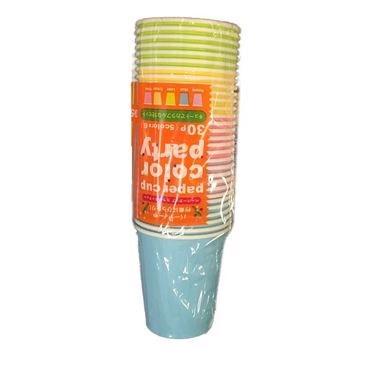 Set 30 cốc giấy màu sắc dung tích 205ml- Hàng Nhật nội địa