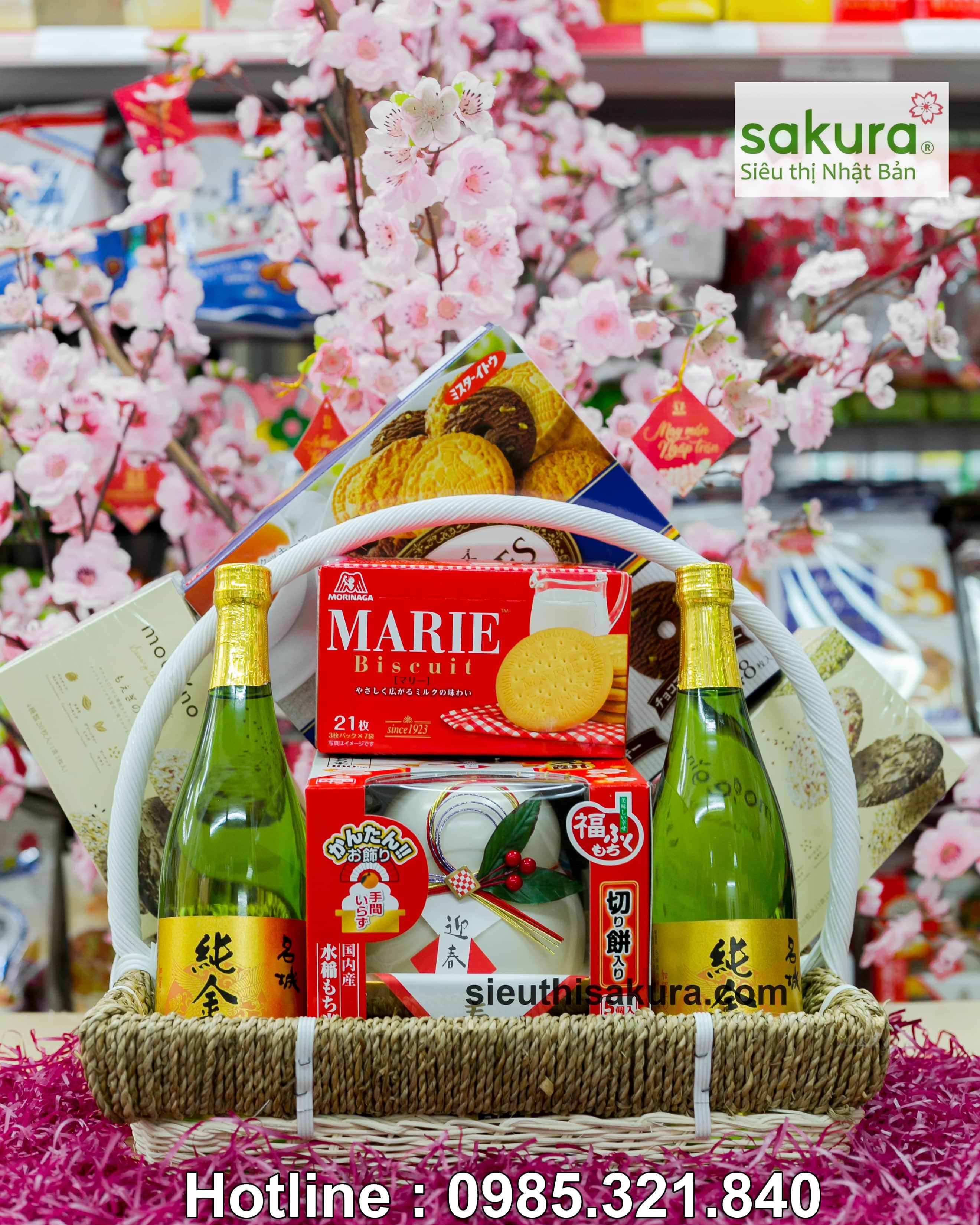 Set giỏ quà tết Sakura: Xuân Bình An