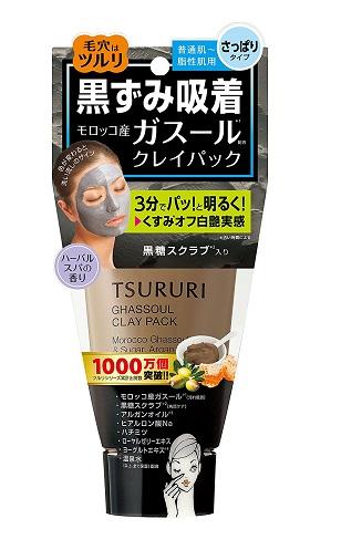 Mặt nạ thải độc bùn khoáng Tsururi Ghassoul 150g (da dầu, da thường) - Hàng Nhật nội địa