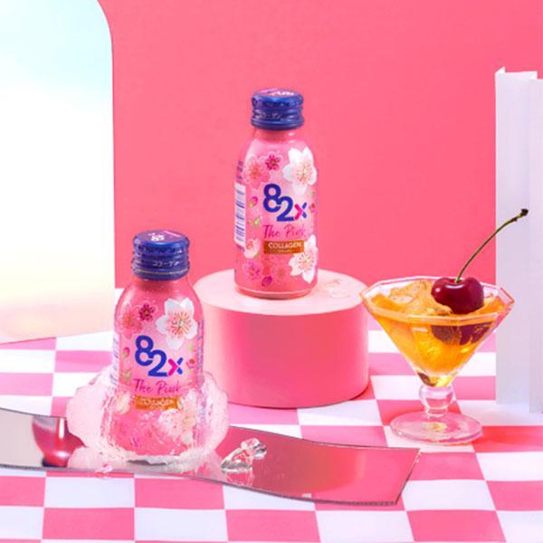 Nước Uống Bảo Vệ Sức Khỏe 82x The Pink Collagen Nhật Bản ( hộp 10x 100ml)