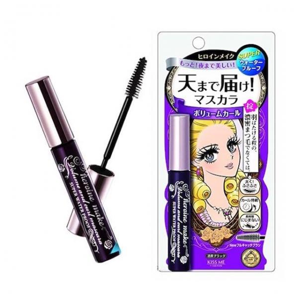 Mascara đen không trôi Isehan Kiss Me Heroine Waterproof - Hàng Nhật nội địa