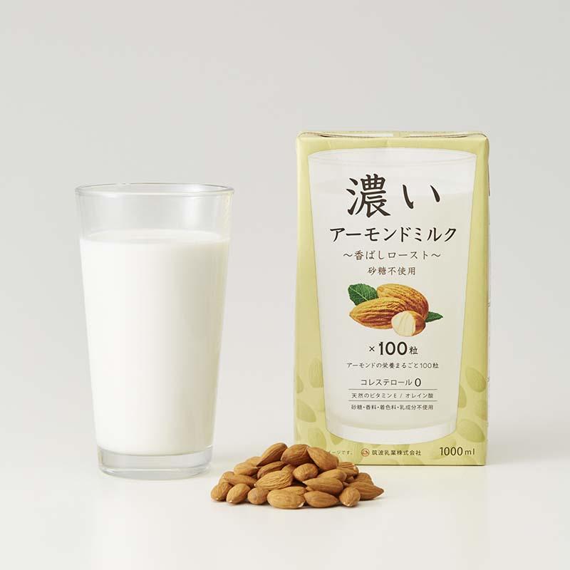 Sữa hạt hạnh nhân cao cấp TSUKUBA 1000ml (không đường) - Hàng Nhật nội địa