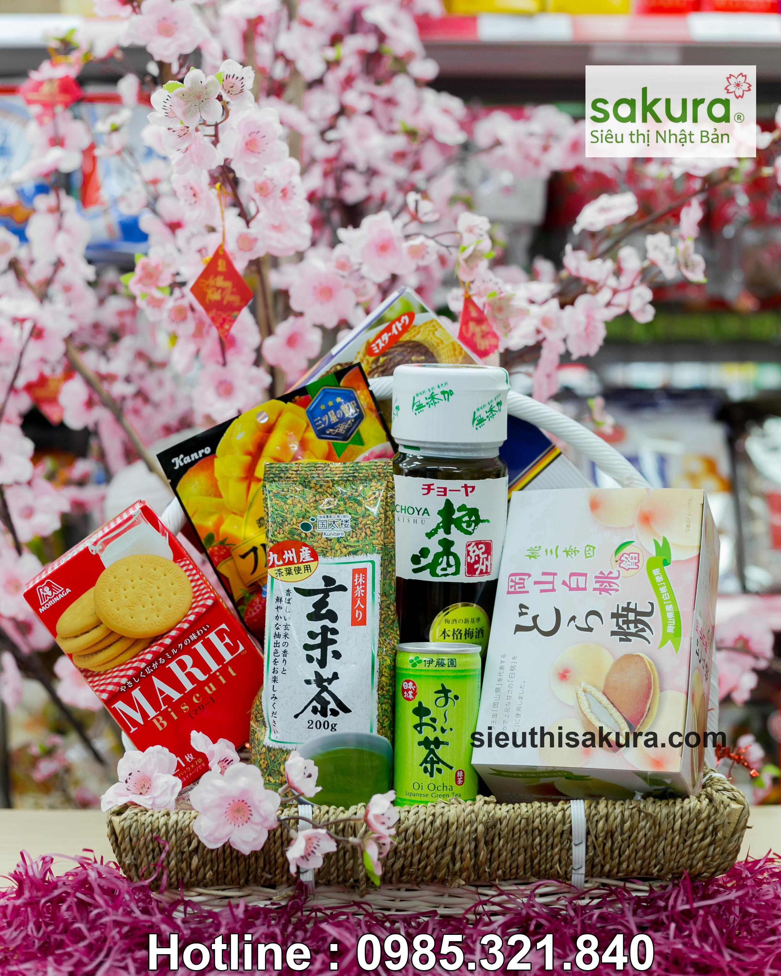 Set giỏ quà tết Sakura: Xuân Tài Lộc