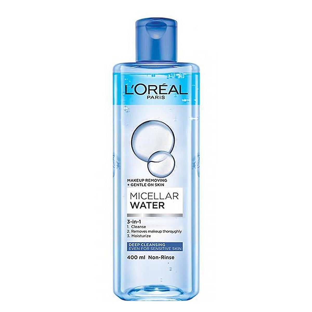 Nước Tẩy Trang 3 in 1 LOreal Paris Micellar Water 400ml - Hàng Nhật nội địa