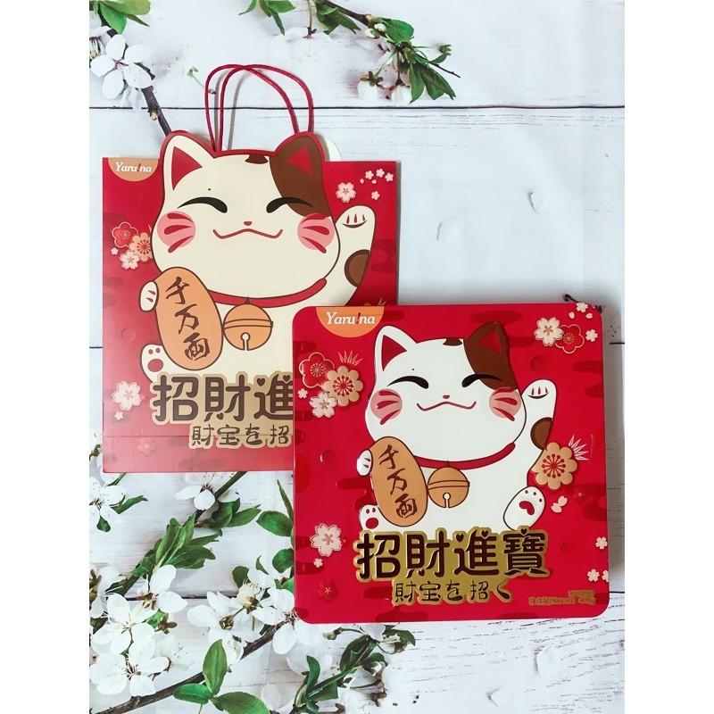 Bánh quy Yaruma Cookies hình Mèo Thần Tài 408g (hộp thiếc) - Hàng Nhật nội địa
