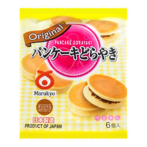 Bánh rán nhân đậu đỏ vị truyền thống Marukyo Pancake Dorayaki 310g - Hàng Nhật nội địa