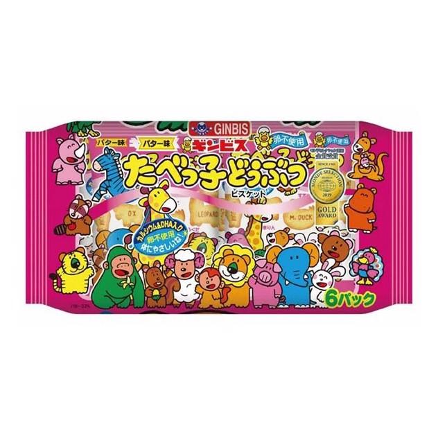 Bánh quy hình động vật vị bơ 25gx6 gói - Hàng Nhật nội địa