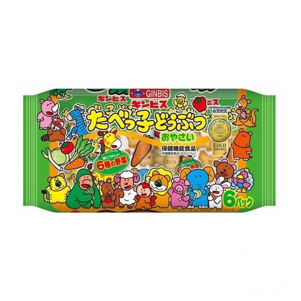 Bánh ăn dặm hình thú Ginbis xanh - Hàng Nhật nội địa