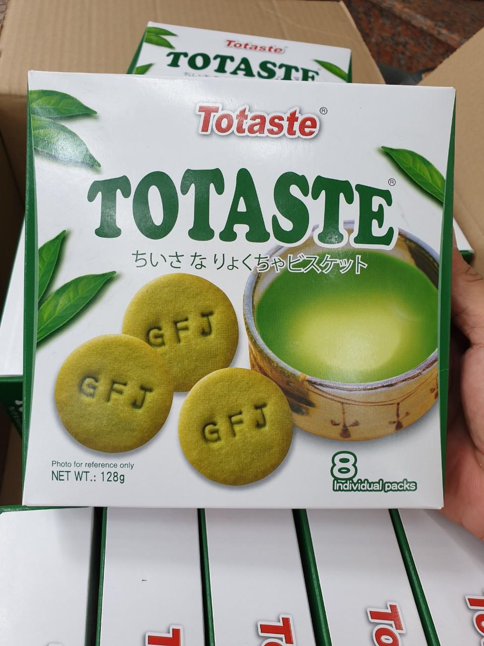 Bánh quy Totaste vị trà xanh 128g - Hàng Nhật nội địa