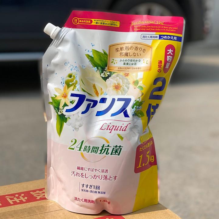 Nước giặt đậm dặc, kháng khuẩn cao cấp Kaori 1,5kg - Hàng Nhật Bản nội địa