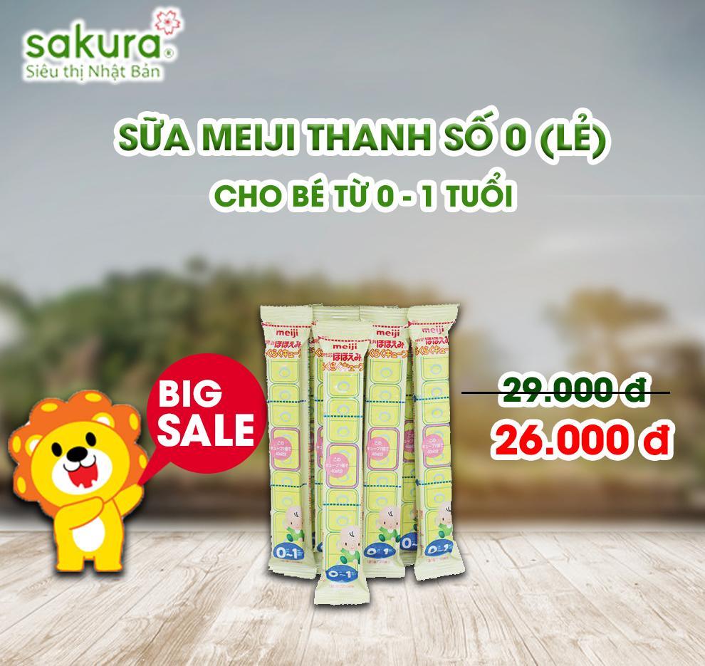 BIG SALE/ Sữa Meiji thanh số 0 - Hàng Nhật nội địa