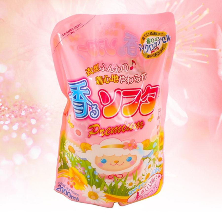 Nước xả mềm vải Rocket 2 Lít- Hàng Nhật nội địa