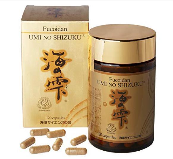 Fucoidan Umi NFucoidan Umi No Shizuku nội địa Nhật hộp vàng - Hàng Nhật nội địa