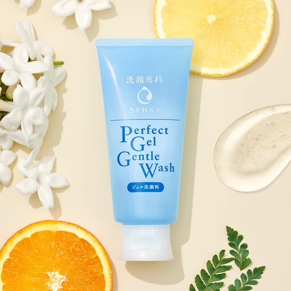 Gel Rửa Mặt Dịu Nhẹ Cho Da Nhạy Cảm Senka Perfect Gel Gentle Wash 100g - Hàng Nhật nội địa