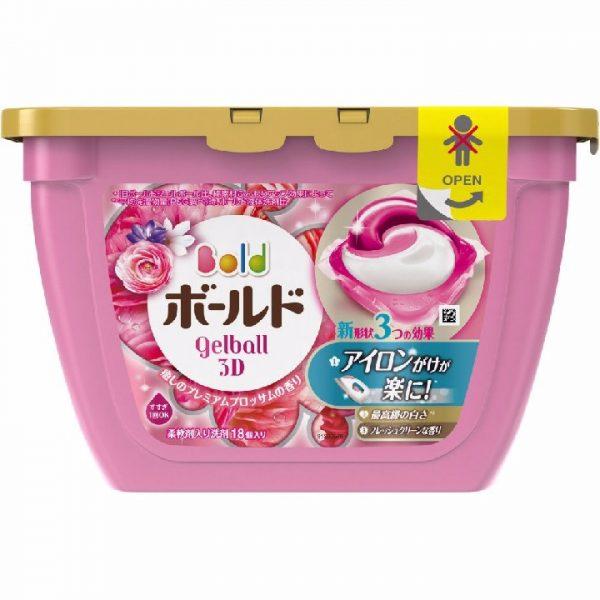 Hộp viên giặt & xả Gelball 3D 17 viên màu hồng- Hàng Nhật nội địa