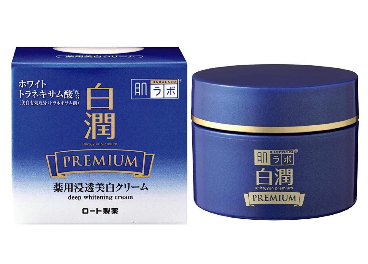 Kem dưỡng trắng da cao cấp Hada Labo Shirojyun Premium Medicated Deep Whitening Cream 50g - Hàng Nhật nội địa