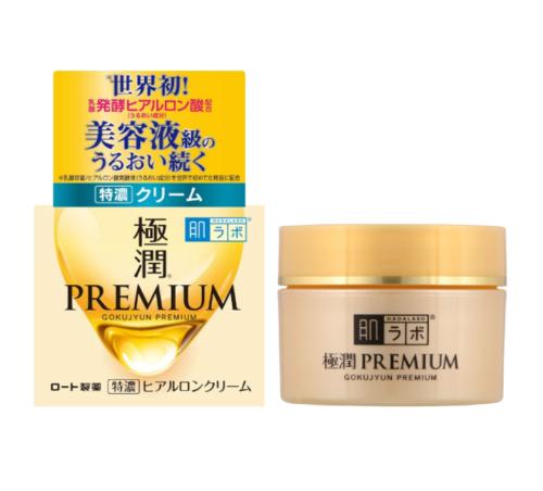Kem dưỡng da Hadalabo Premium Gokujyun Premium bổ sung hyaluronic acid cho da 50g - Hàng Nhật nội địa
