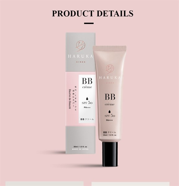 Kem trang điểm chống nắng BB Cream 5in1 Haruka - NB- 30ml - Hàng Nhật nội địa