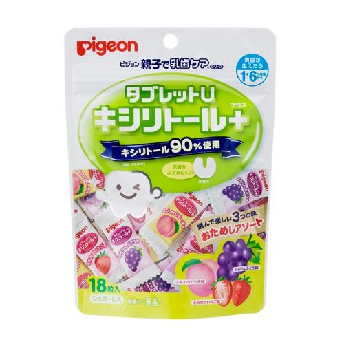 Kẹo chống sâu răng Pigeon vị hoa tổng hợp 18 viên - Hàng Nhật nội địa