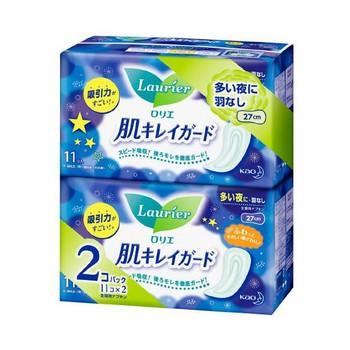 Set 2 băng vệ sinh ban đêm không cánh Laurier - Hàng Nhật nội địa