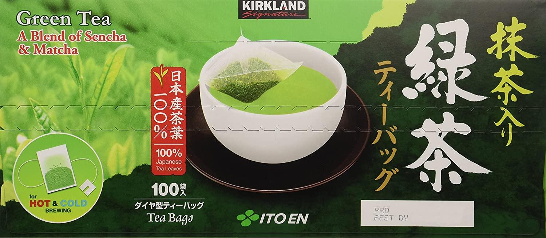 Trà xanh Green Tea Kirkland 100 gói - Hàng Nhật nội địa