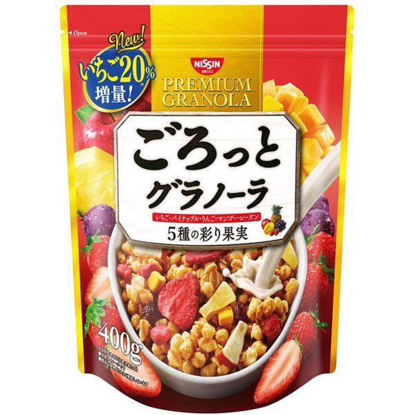 Ngũ cốc Nissin Cisco Granola 5 KINDS 400g - Hàng Nhật nội địa