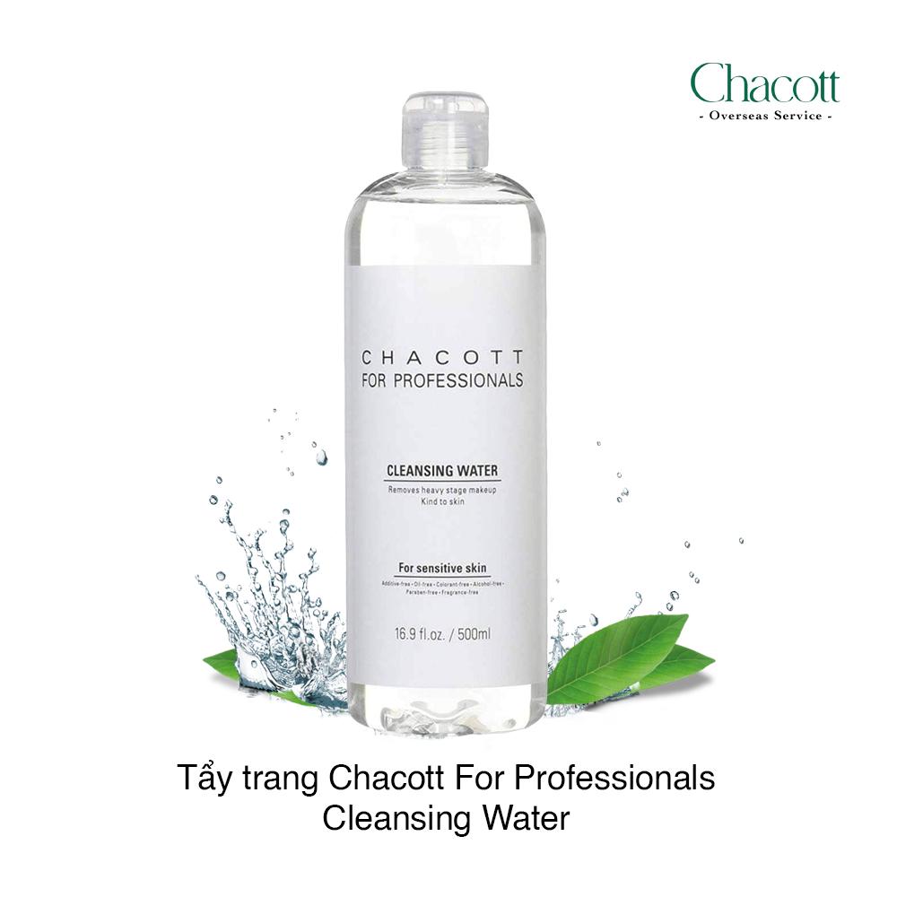 Nước tẩy trang Chacott for Professionals Cleansing Water Nhật Bản 500ml - Hàng Nhật nội địa