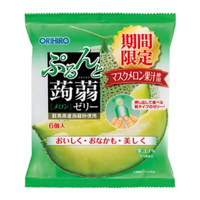 ORIHIRO- Thạch vị dưa gang 20gx6 túi - Hàng Nhật nội địa