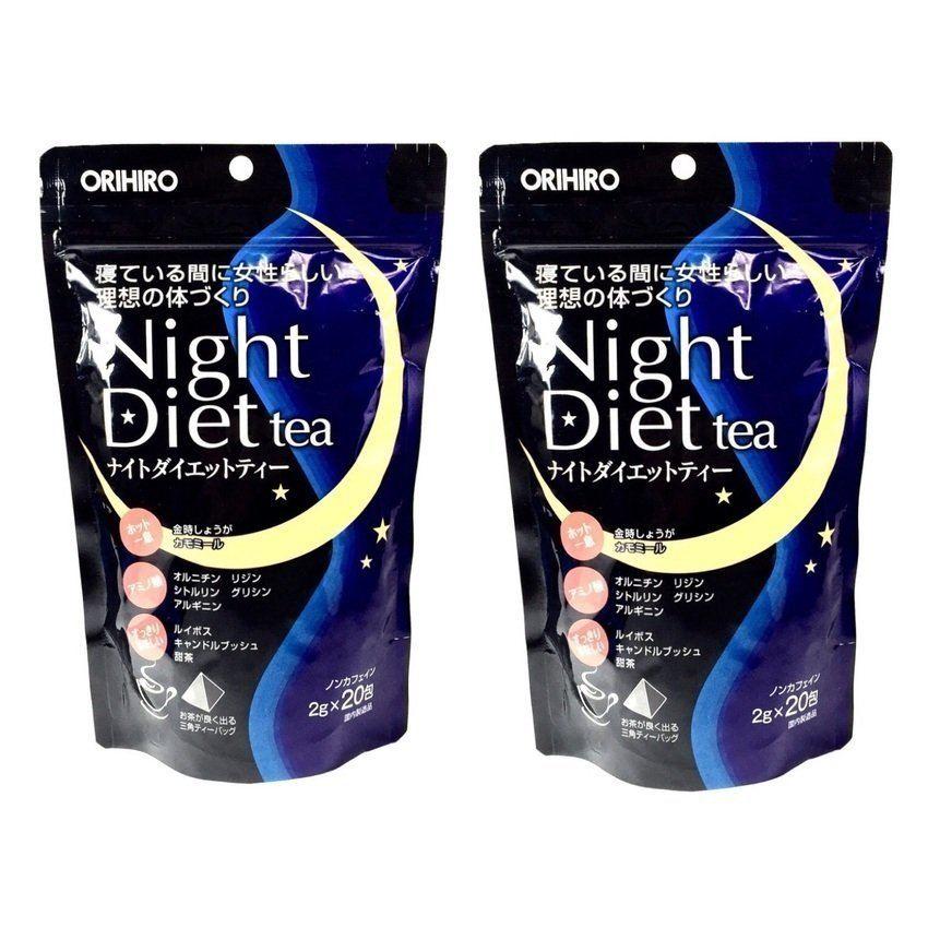 Trà Giảm Cân Orihiro Night Diet Tea ( cộng 4 gói)- Hàng Nhật nội địa