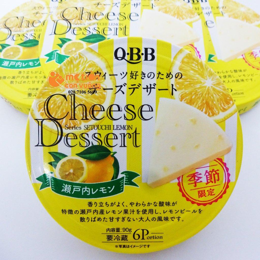 PHÔ MAI QBB NHẬT BẢN VỊ CHANH 90g  - Hàng Nhật nội địa