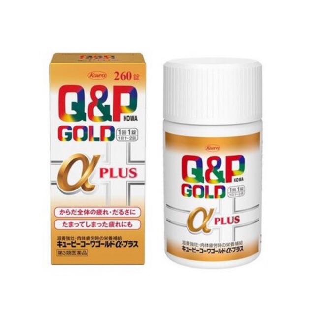 Viên uống Q&P Gold Alpha PLUS bổ sung vitamin, chống suy nhược, tăng sức đề kháng 260 viên - Hàng Nhật nội địa