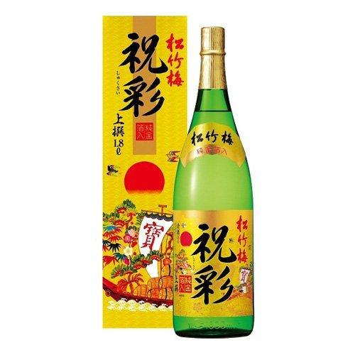 Rượu Sake vảy vàng Takara Shozu mặt trời đỏ 1800ml - Hàng Nhật nội địa