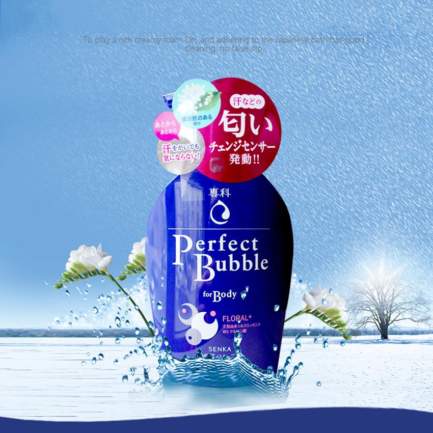 Sữa tắm Shiseido Perfect Bubble 500ml hương hoa hồng- Hàng Nhật nội địa