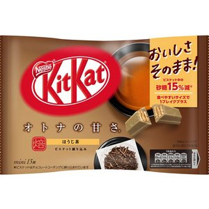Bánh kitkat vị trà xanh rang Kiktkat Mini sweetnees 12+1 miếng mẫu 2021 - Hàng Nhật nội địa