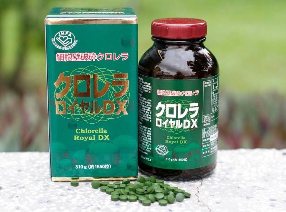 Tảo lục Chlorella Royal DX hoàng gia Nhật Bản hộp 1550 viên - HÀNG NHẬT NỘI ĐỊA
