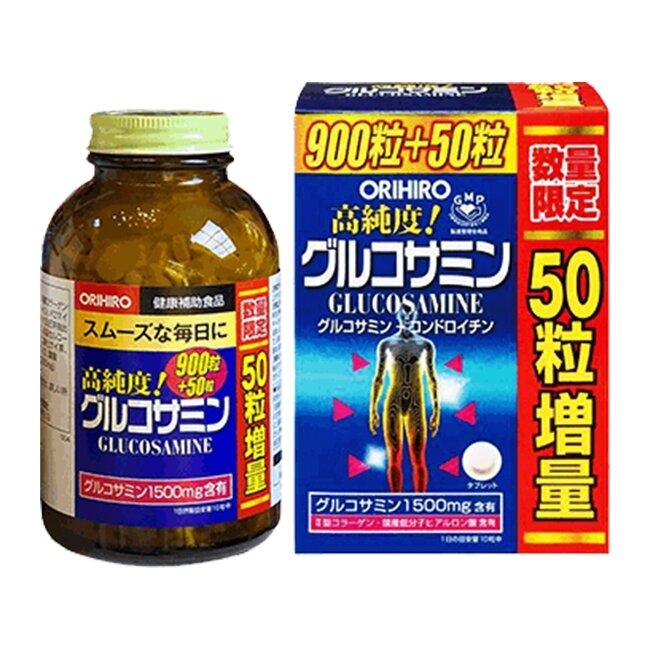(BIG SALE) THUỐC BỔ XƯƠNG KHỚP GLUCOSAMINE ORIHIRO 1500MG ( 900+50 viên) - Hàng Nhật nội địa