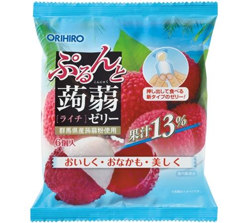 ORIHIRO- Kẹo thạch vị vải ( 1 túi 6 cái 20g) - Hàng Nhật nội địa