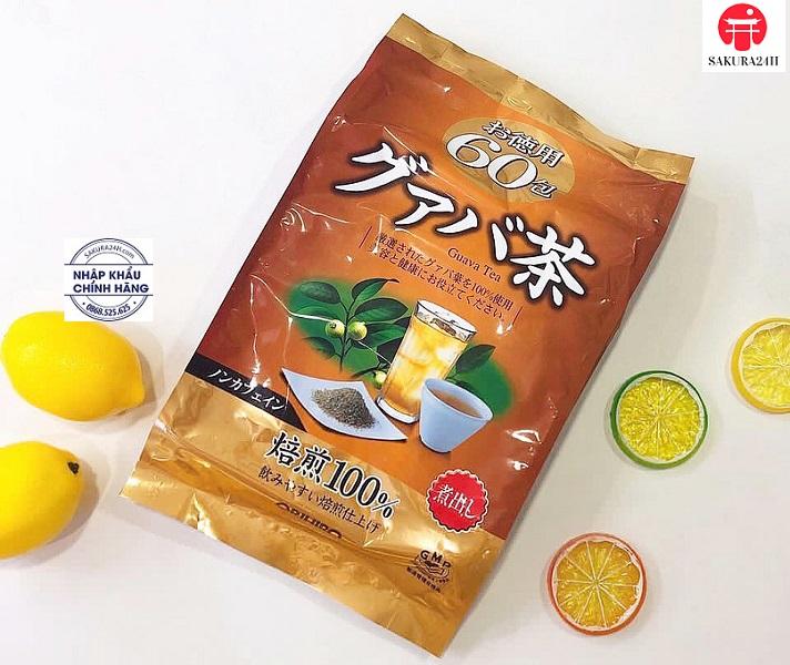 Trà lá ổi Orihiro 60 gói (Trà giảm cân Orihiro Guava Tea) - Hàng Nhật nội địa