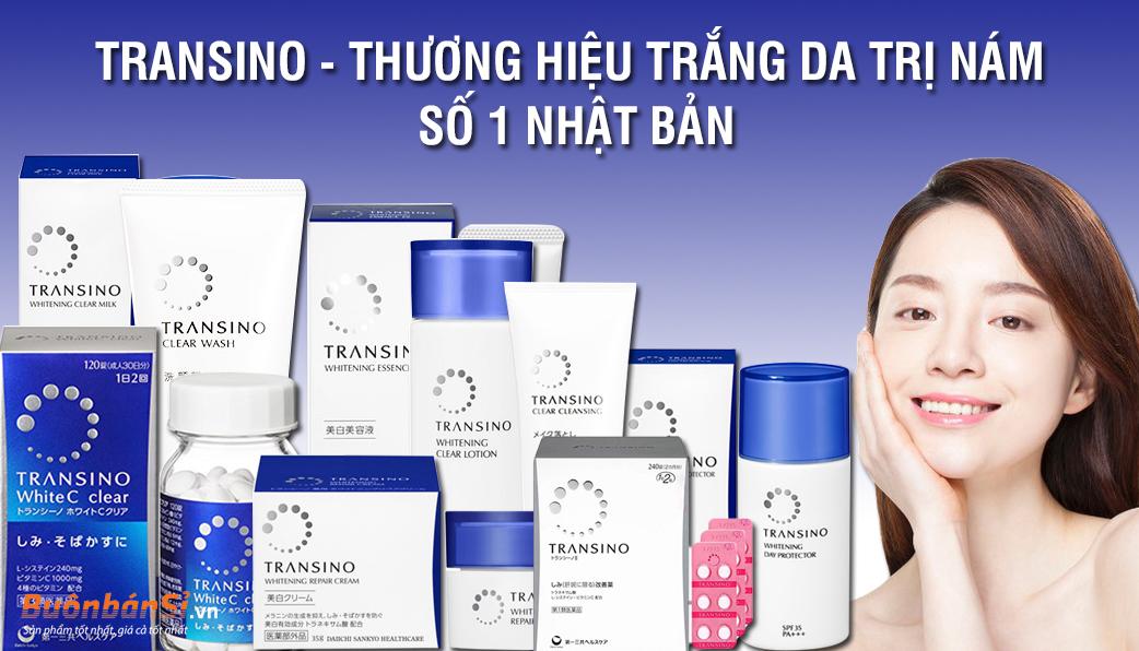 Combo bộ 3 sản phẩm đặc trị nám, dưỡng trắng da Transino Nhật Bản - Hàng Nhật nội địa