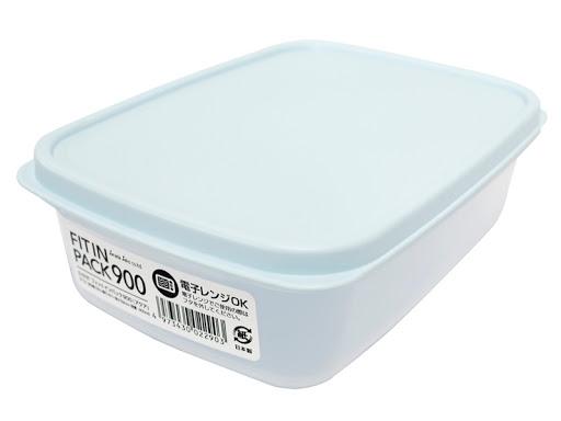 Hộp nhựa nắp dẻo 900ml (màu xanh Mint) - Hàng Nhật nội địa